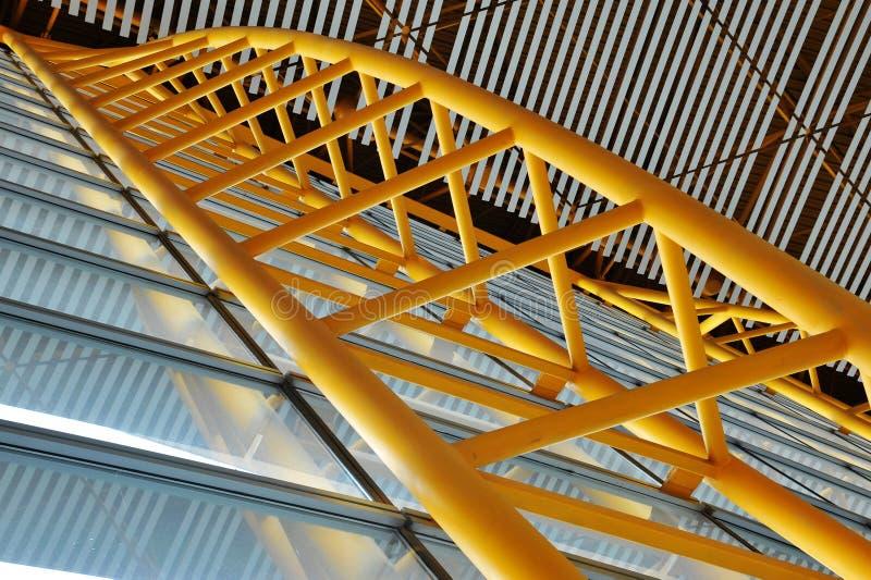 Buidling Innenraumstruktur lizenzfreie stockfotos