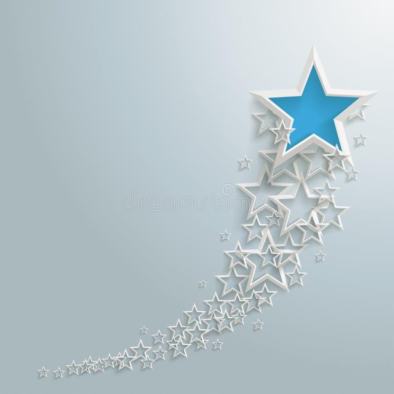 Buigende lijn van sterren stock illustratie