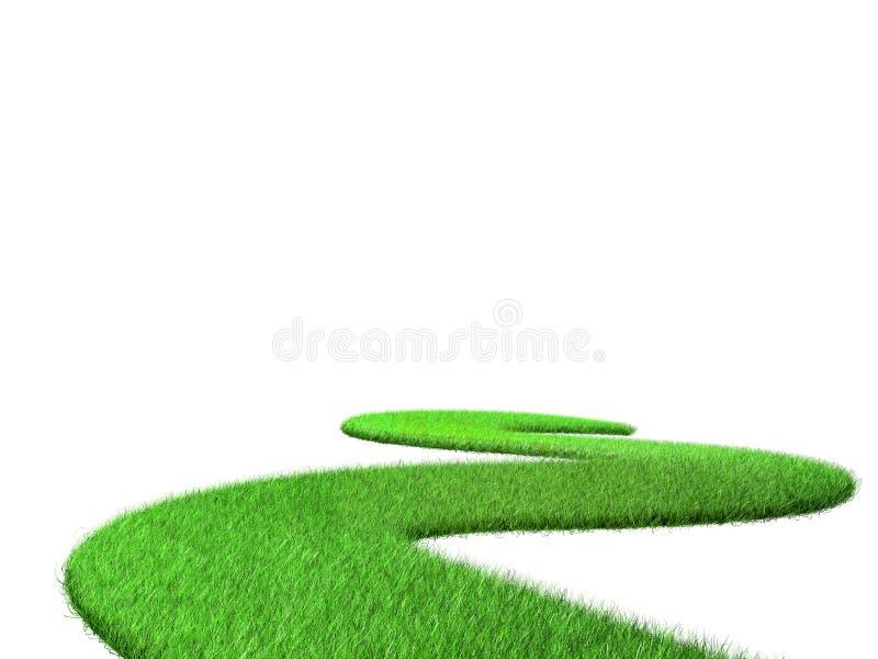 Buigende weg van gras royalty-vrije illustratie