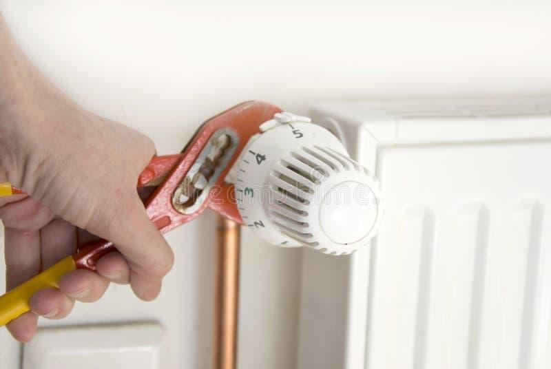 Buigtang en radiator royalty-vrije stock foto's