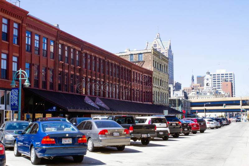 Buiildings In the City of Milwaukee, WI, An Urban Setting stock image