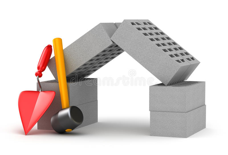 Download Build a home concept stock illustration. Illustration of build - 16858821