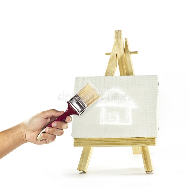 Build a house royalty free stock photography