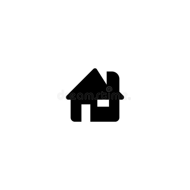 Home icon. Web home page symbol. Business card sign vector illustration