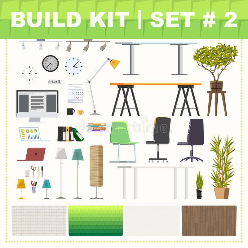 Free Build Kit 2 Office Furniture Stock Photography - 73140522
