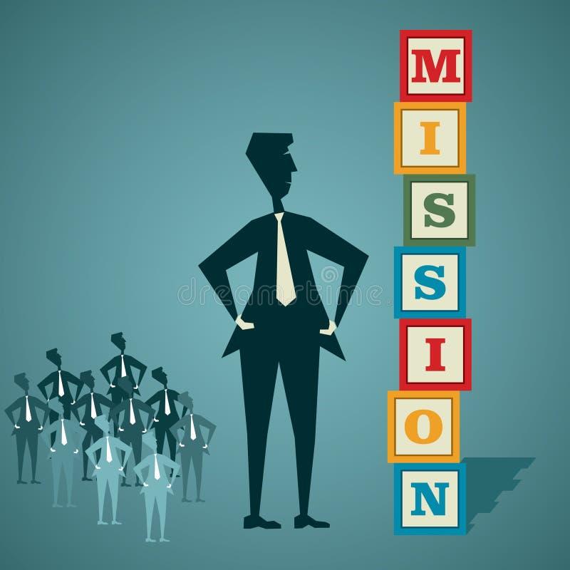 Build mission royalty free illustration