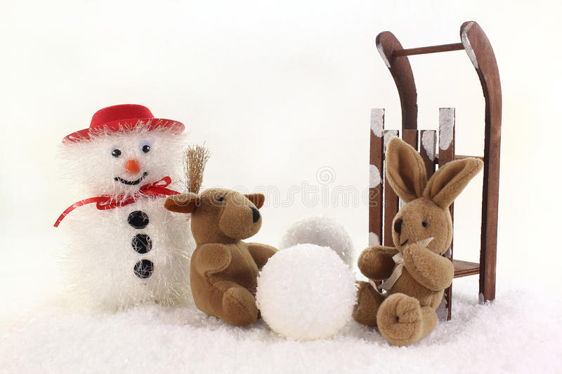 Download Build a snowman stock photo. Image of doll, snowman, snow - 23363114
