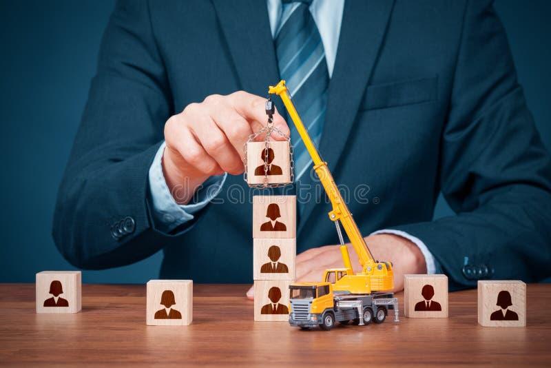 Build team - human resources concept stock photo