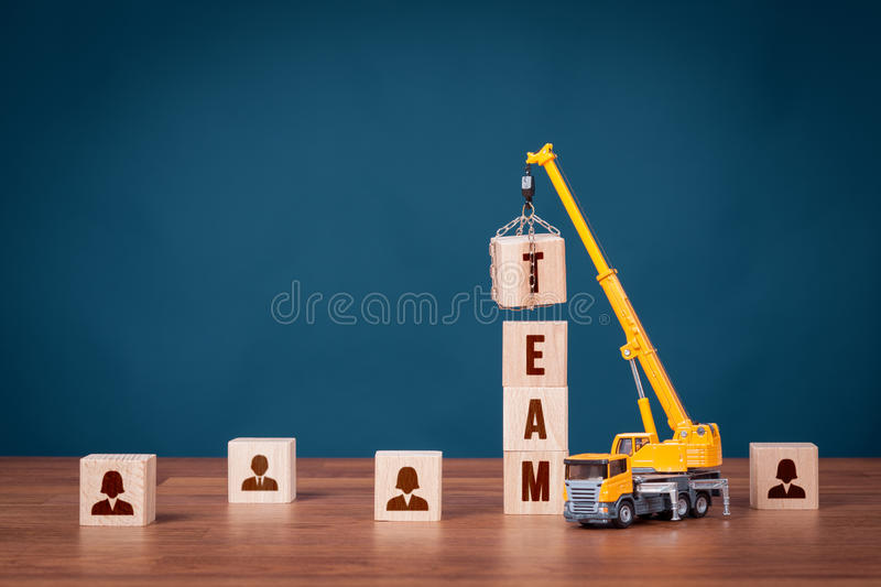 Build team - human resources concept stock image