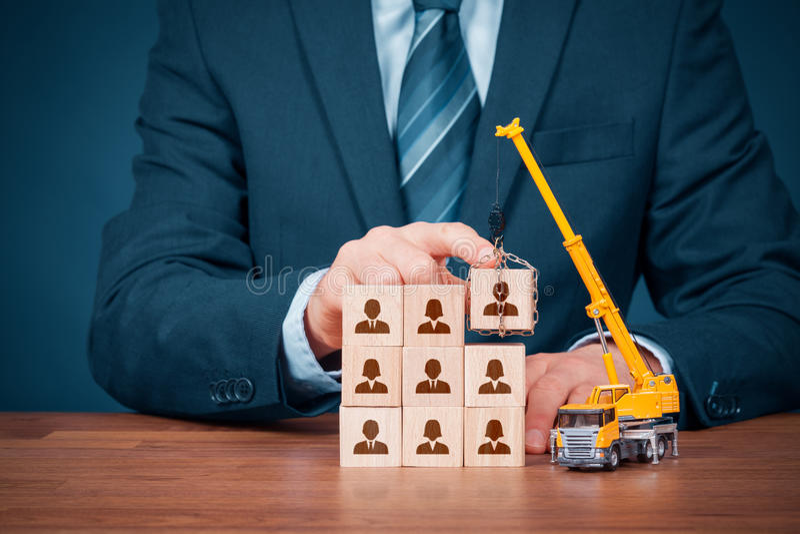 Build team - human resources stock photos