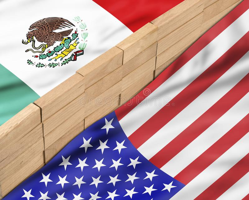 Build the Wall stock illustration