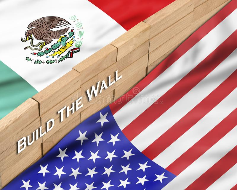 Build the Wall royalty free illustration