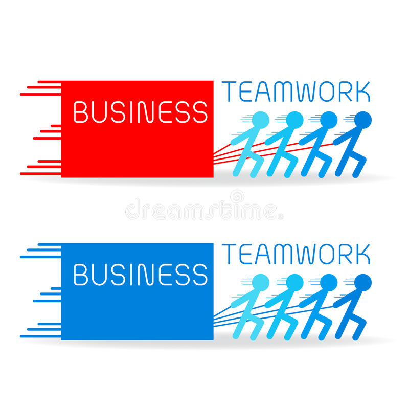 Build Your Business With Strong Teamwork Stock Vector - Illustration ...