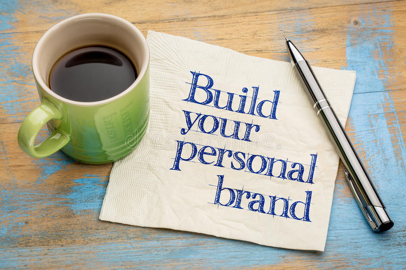 Build your personal brand advice royalty free stock photo