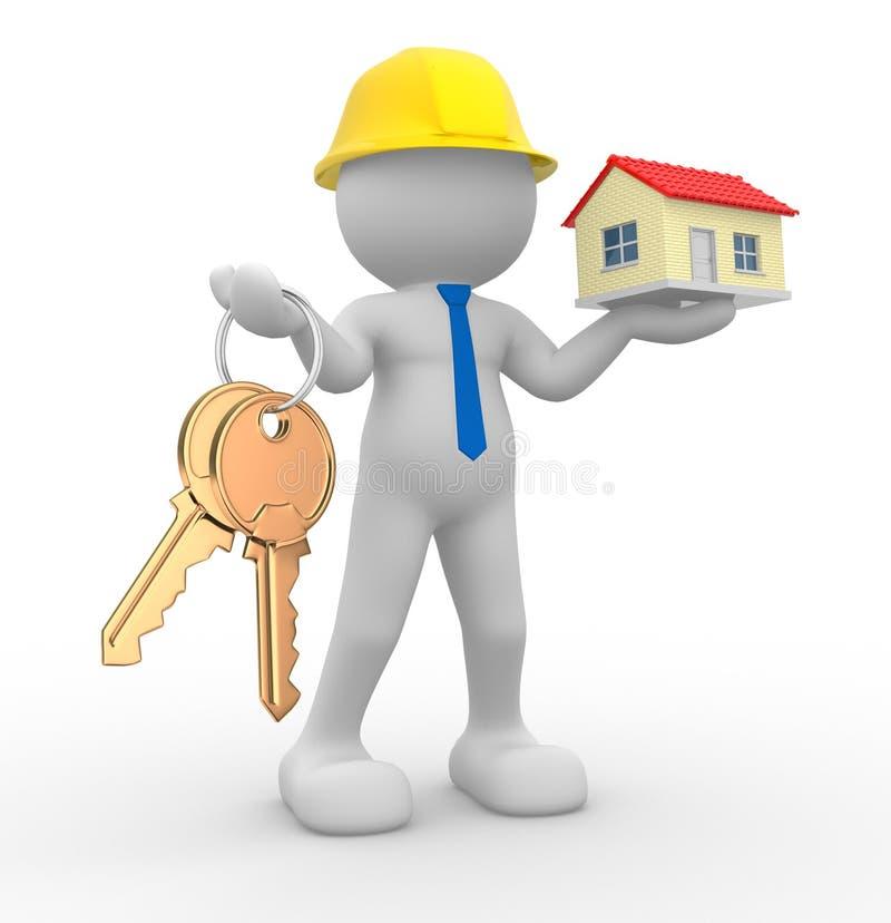 Download Builder stock illustration. Illustration of help, idea - 24030372