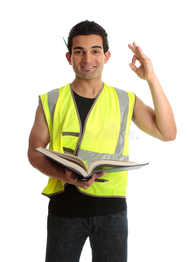 Builder apprentice student royalty free stock images