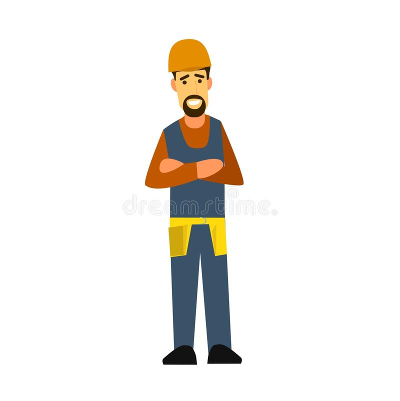 Builder with arms crossed on his chest . stock photography