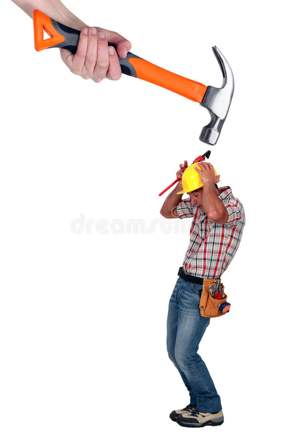 Download Builder Being Attacked Royalty Free Stock Images - Image: 28009879