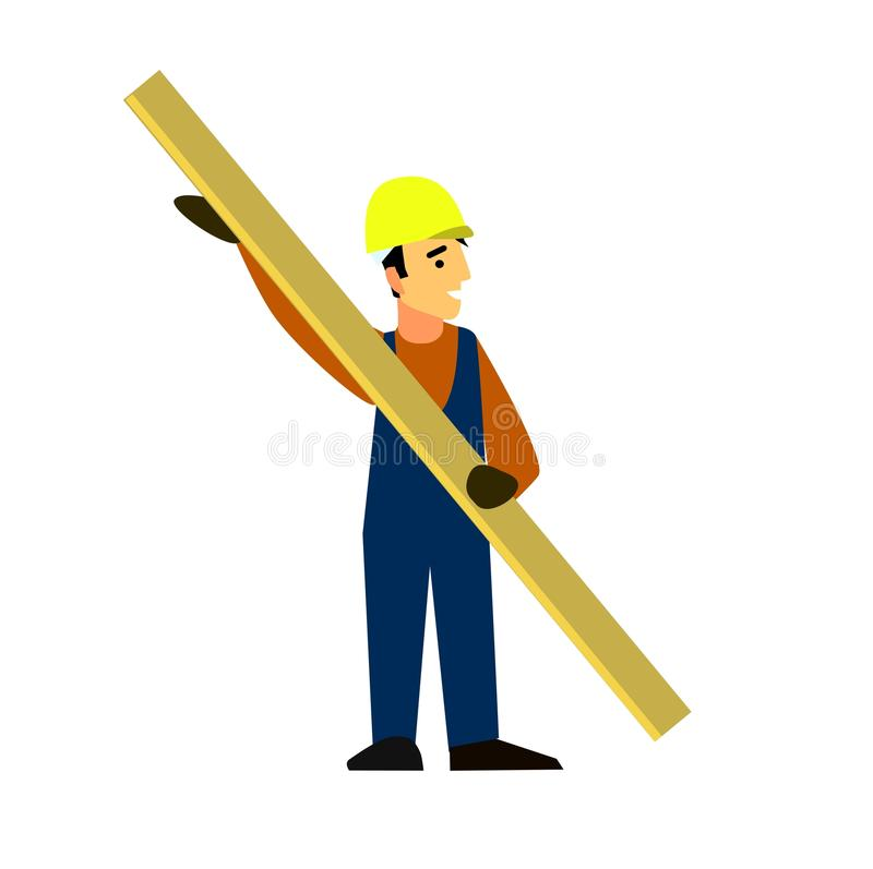 Builder with a Board in his hands stock image