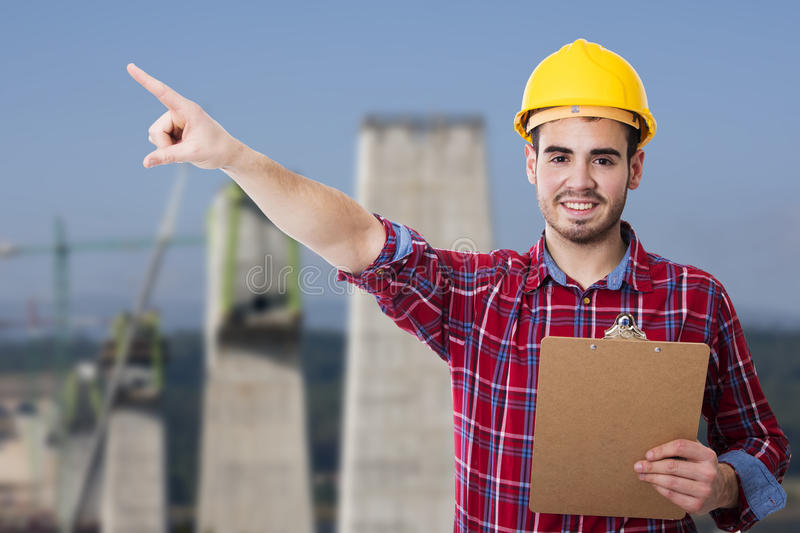 Builder and chief construction royalty free stock photography