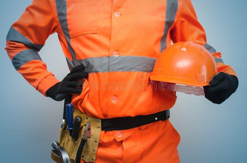 Builder. Worker. Repairman. royalty free stock photography
