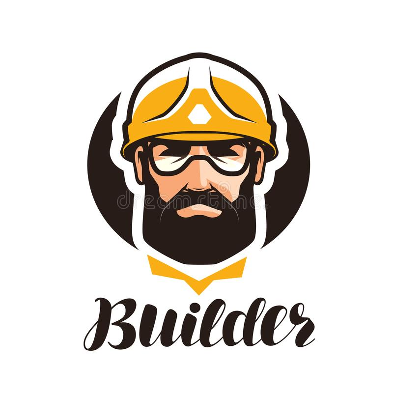 Builder, constructor logo. Industry, support, service, repair, overhaul icon or symbol. Builder, constructor logo. Industry, support, service repair overhaul vector illustration