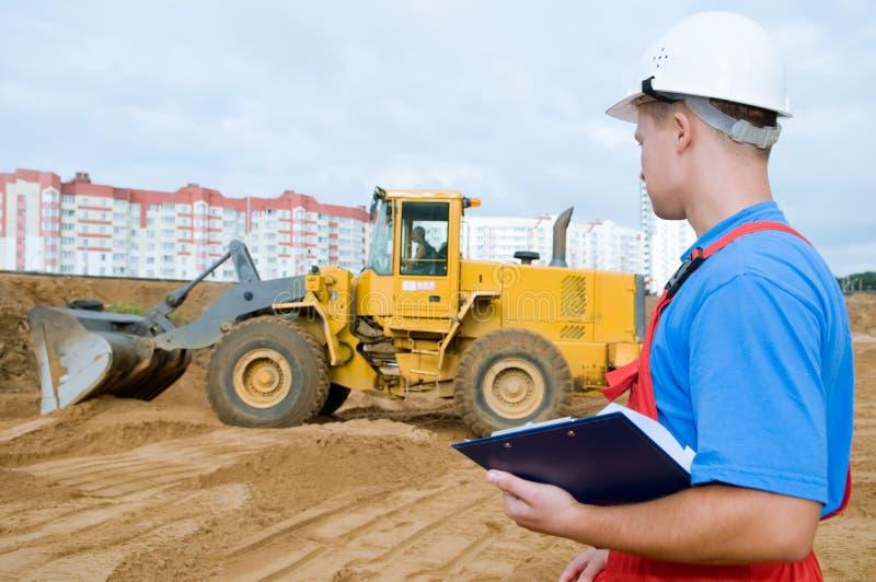 Builder inspector at construction stock photos
