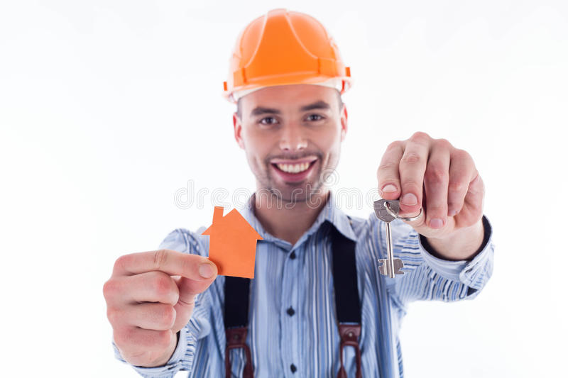 Download A builder man stock photo. Image of paper, contractor - 29092048
