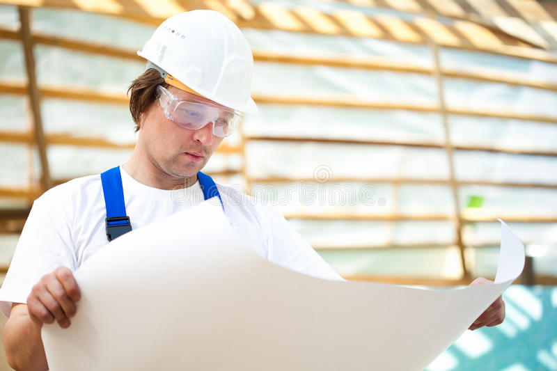 Builder manager stock image