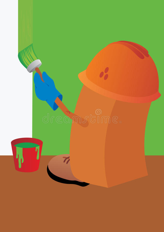 Download Builder painter stock vector. Illustration of decoration - 16651820
