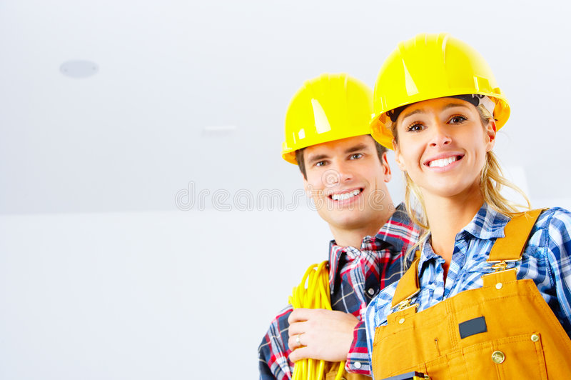 Builder people royalty free stock photo