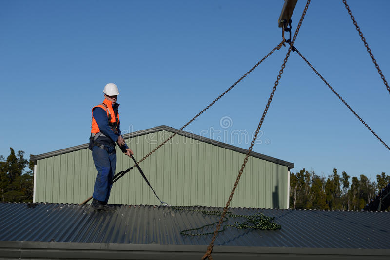 Builder ready to go stock image