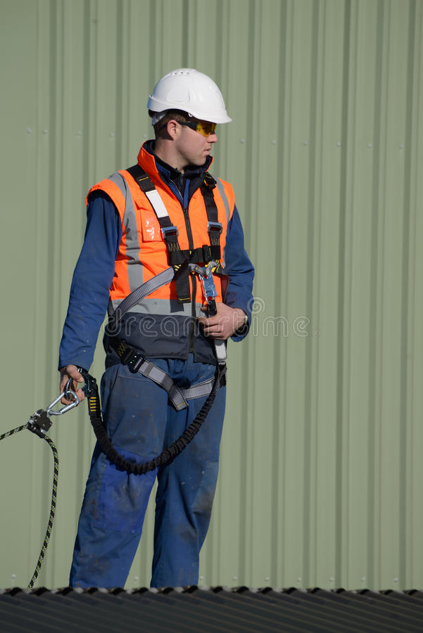Builder ready to go stock photo