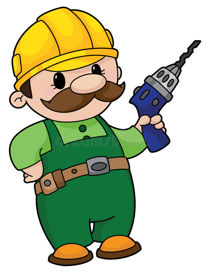 Free Builder With A Drill Royalty Free Stock Photo - 14526845