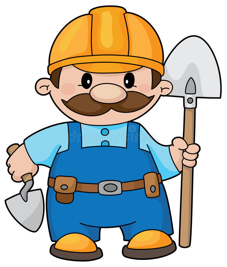 Free Builder With A Shovel Royalty Free Stock Photo - 14526855