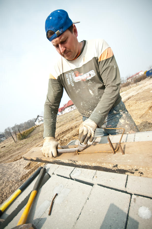 Download Builder at work stock photo. Image of foundation, making - 19006994