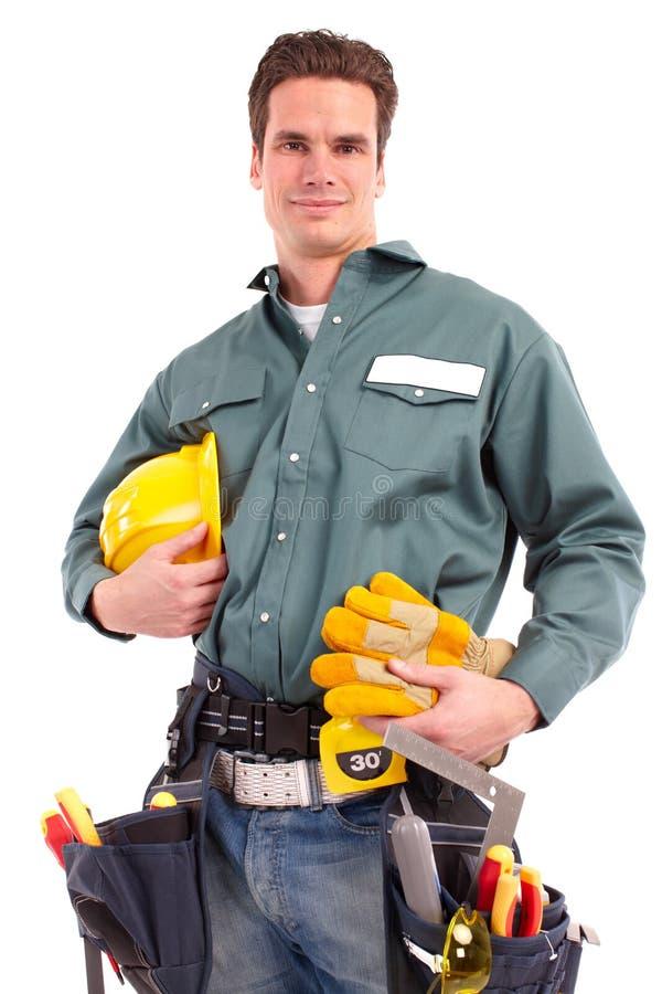 Builder worker stock photo