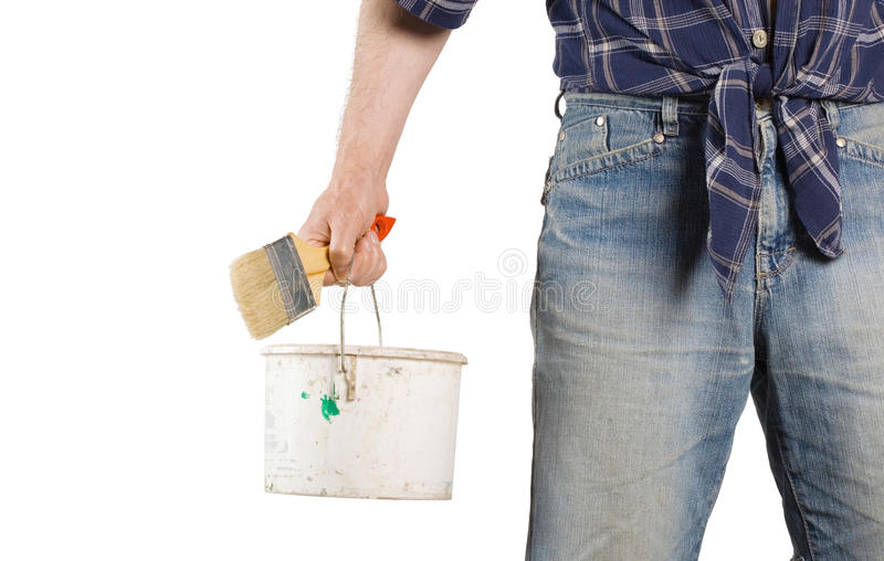 Builder worker royalty free stock photo