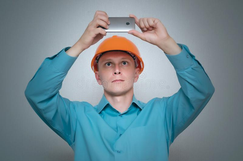 Builder worker. royalty free stock image