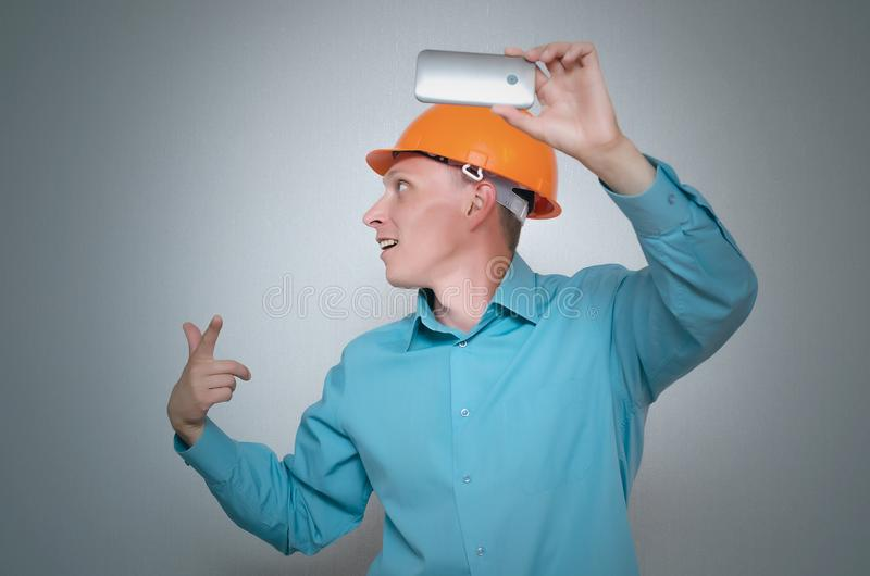 Builder worker. royalty free stock photos