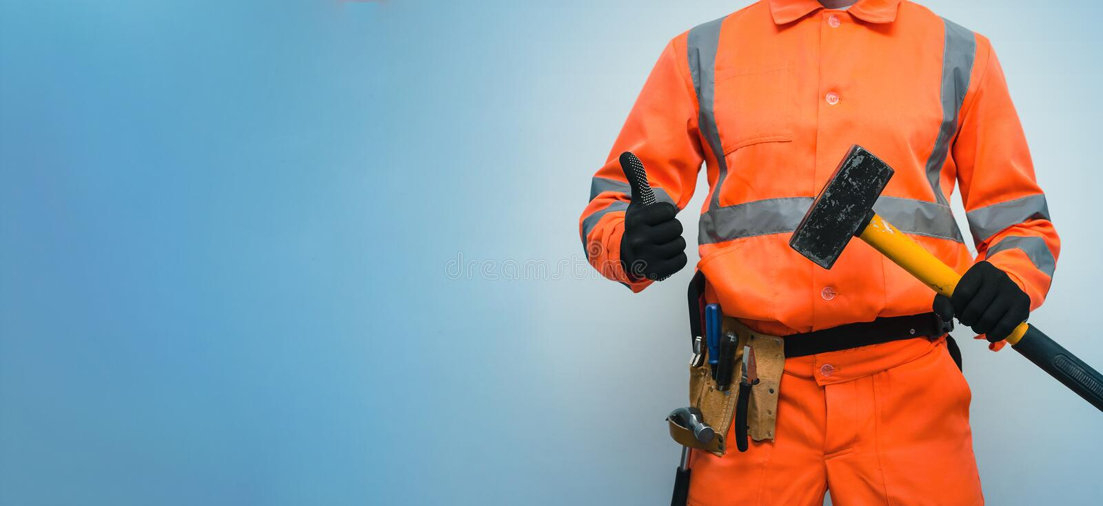 Builder worker. royalty free stock images
