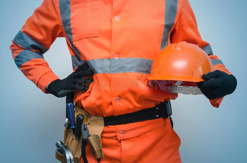 Builder. Worker. Repairman. stock photography