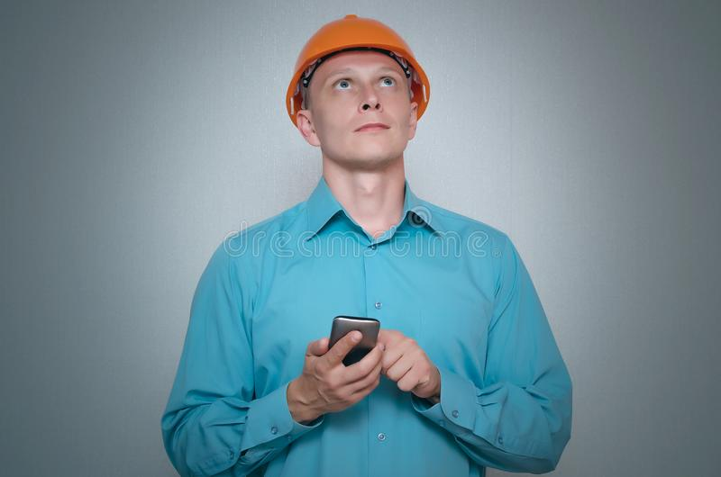 Builder worker. royalty free stock photo