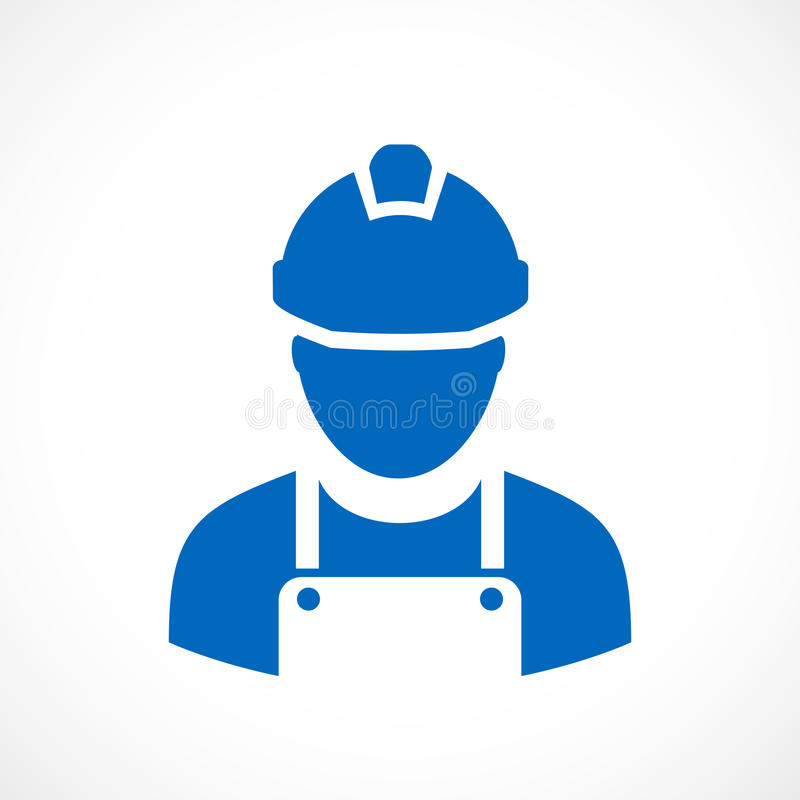 Builder worker vector icon. Illustration vector illustration