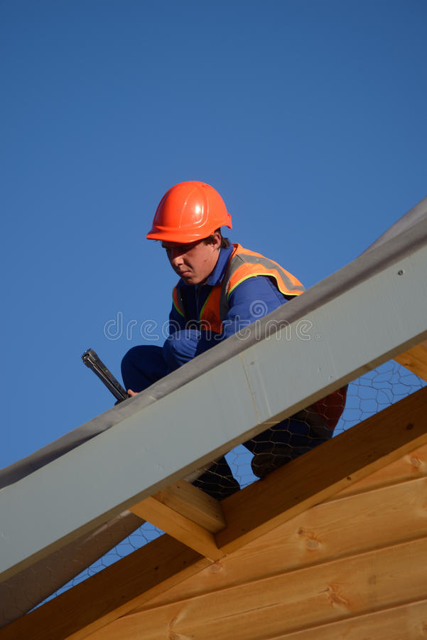 Builders bang it home royalty free stock photos