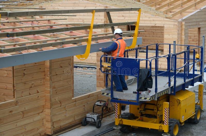Builders make it safe stock image