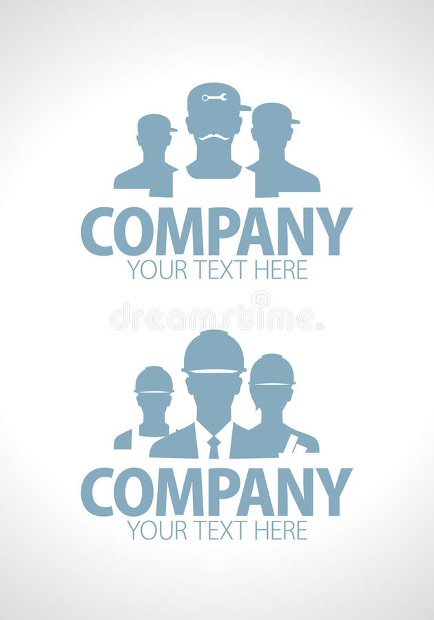 Builders and repairers team silhouette royalty free illustration