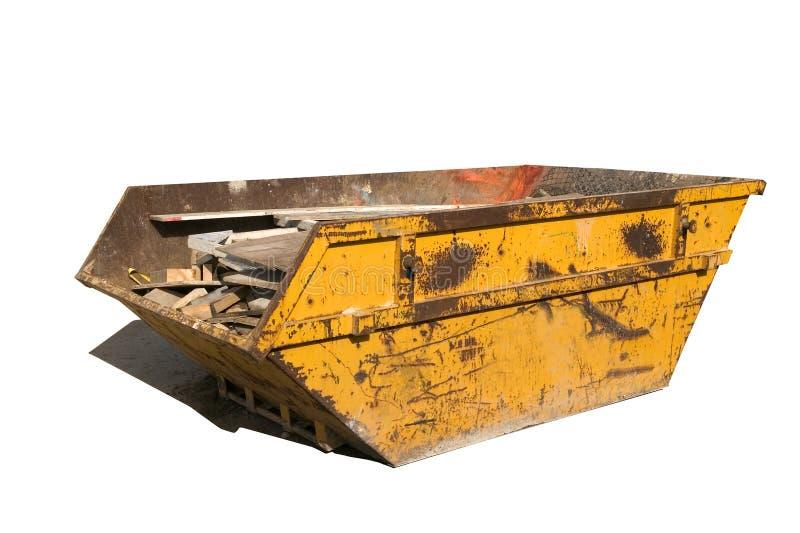 Download Builders skip stock image. Image of trash, yellow, shadow - 2081581