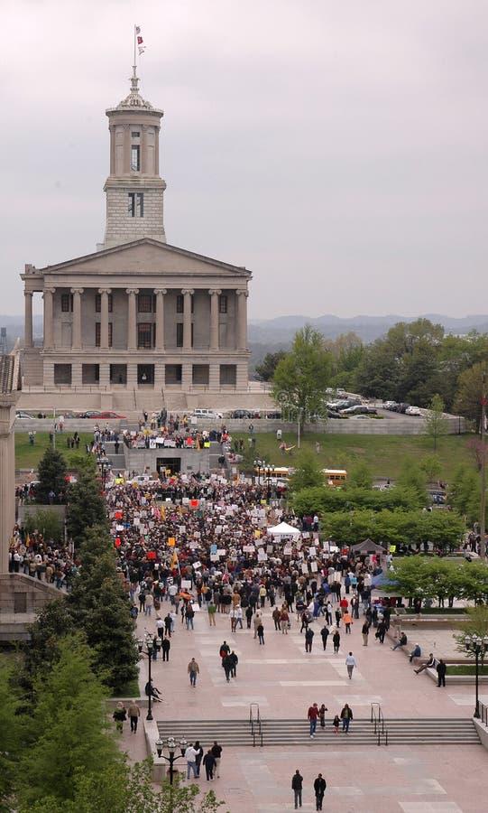buildiing kapitałowy Nashville zdjęcia stock