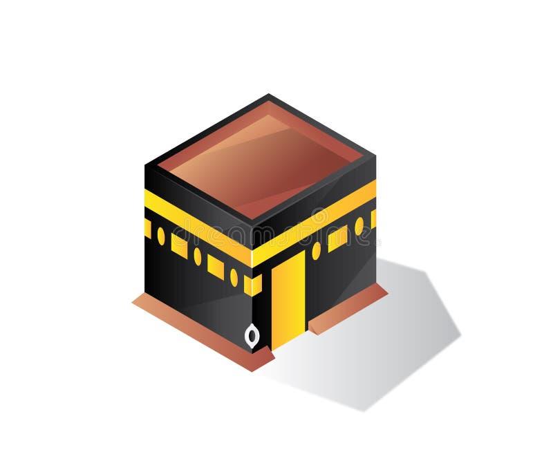 Buildin isométrique d'illustration de makkah de Qaba illustration libre de droits